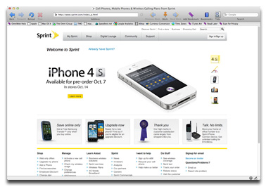 iPhone 4S on Sprint