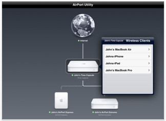 AirPort Utility for the iPad