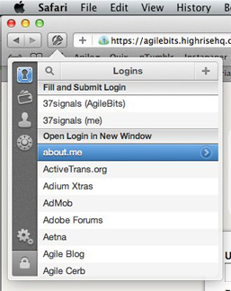 1Password's Safari plug-in