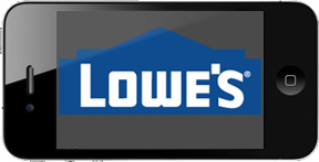 Lowes uses iPhones on retail floor