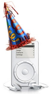 iPod at ten. Have some cake!