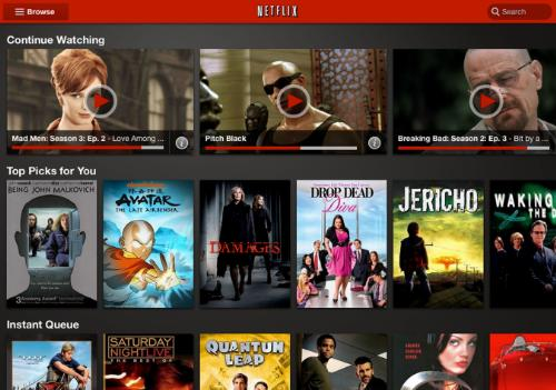 Updated Netflix interface