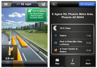 Navigon 2 for the iPhone