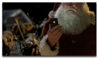 Santa talks to Siri in new iPhone ad