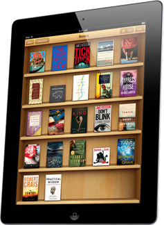 iBooks sports the same old look, but it is iOS 7 compatible