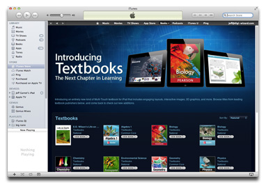 Textbooks at the iTunes Store