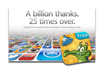 Where's My Water: 25 billionth App Store download