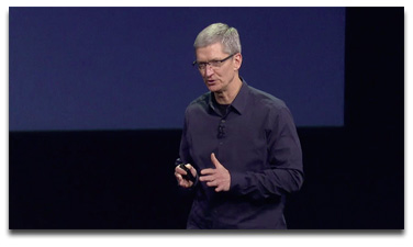 Tim Cook at Apple's third gen iPad event