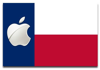 Texas flag with Apple logo