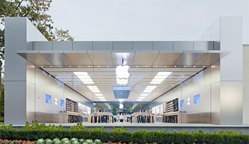 APple's Manhassett glass-front store