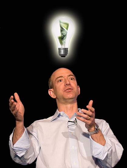 Jeff Bezos & a literal presentation of the metaphorical lightbulb going off...