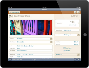 FileMaker Go 12 for the iPad