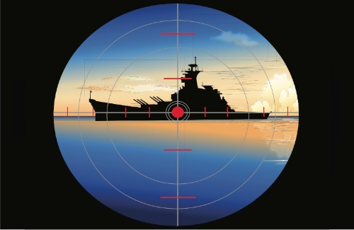 Battleship in crosshairs