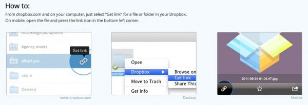 Dropbox Shareable Links