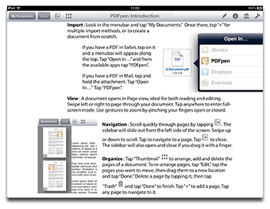 PDFpen for the iPad adds Retina Display support