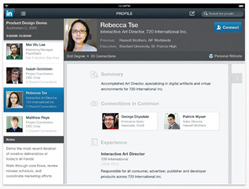 LinkedIn for iOS added iPad support