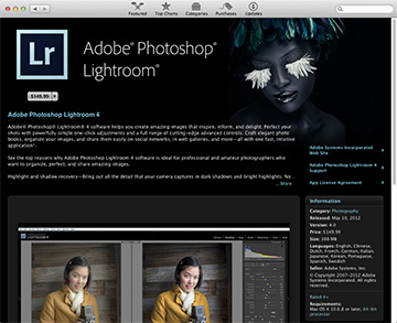 Lightroom 4 now available on the Mac App Store