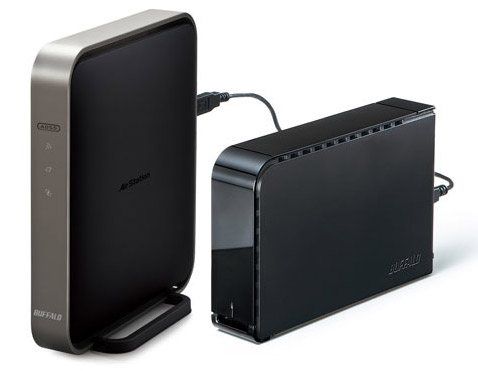 AirStation WZR-D1800H wireless router & WLI-H4-D1300 wireless media bridge