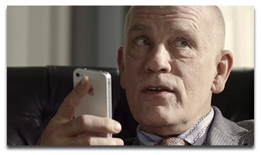 John Malkovich asks Siri to tell him a joke