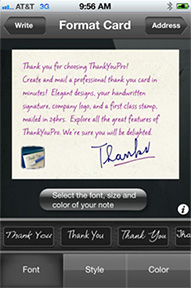 Thank You Cards for the iPhone