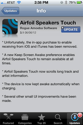 Airfoil Speakers Touch