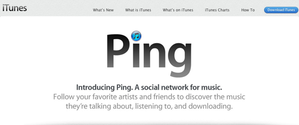 Ping: Apple's not-so-successful social network