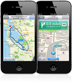 iOS 6's Maps app includes TomTom technology