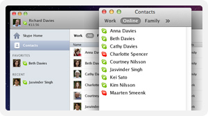 Skype 5.8 for the Mac
