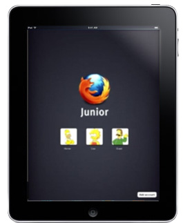 Firefox Junior for the iPad