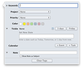 MailTags adds OS X Mountain Lion support