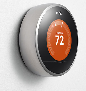 The second generation Nest Learning Thermostat now in Apple Stores