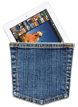 Analyst says he held the mini iPad. We probably need bigger pockets.