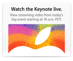 Apple will stream Tuesday's keynote through its website.