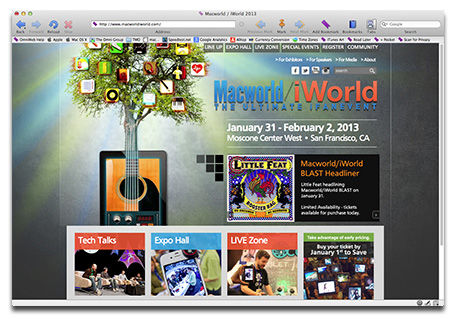 Macworld iWorld Expo: January 31 through February 2, 2013