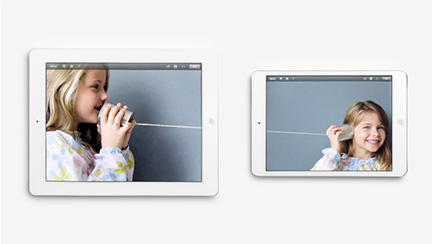 Apple highlights iPad mini features along side the full-size iPad