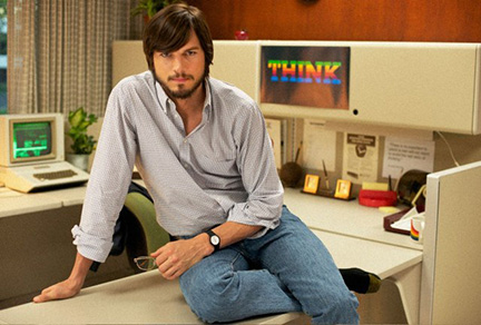 Ashton Kutcher as Apple co-founder Steve Jobs
