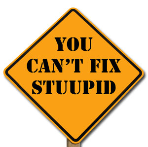 You Can't Fix Stuupid