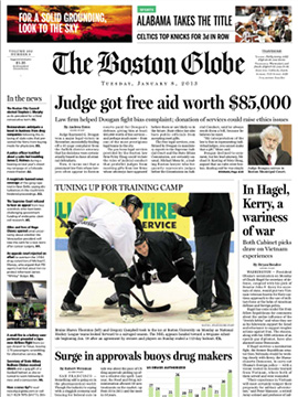 Boston Globe moves its papers in schools program to iPad