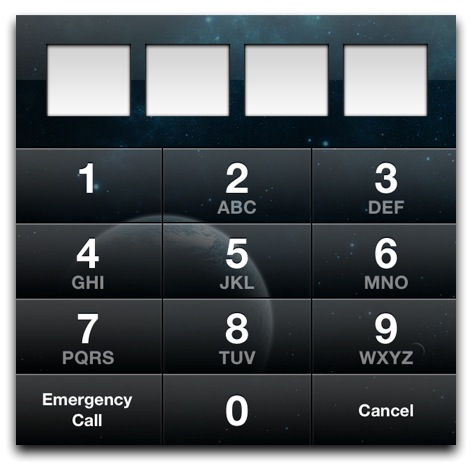 iOS Passcode Screen