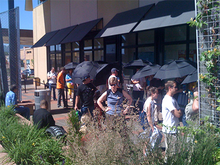Apple's Boulder store in June 2009 when people paid for their iPhones