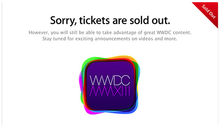 WWDC 2013 sold out in just two minutes