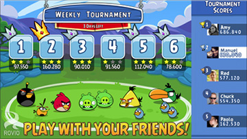 Team Up with Facebook Friends in Angry Birds Friends