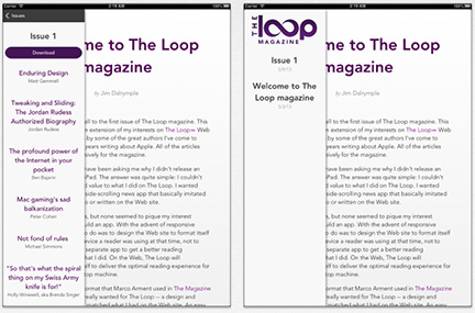 The Loop Hits Apple's Newsstand