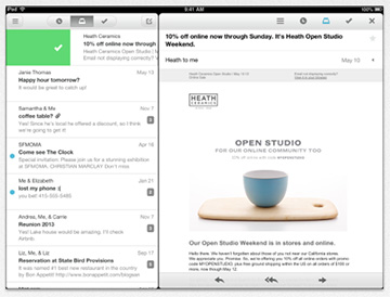 Mailbox, Now with iPad Support