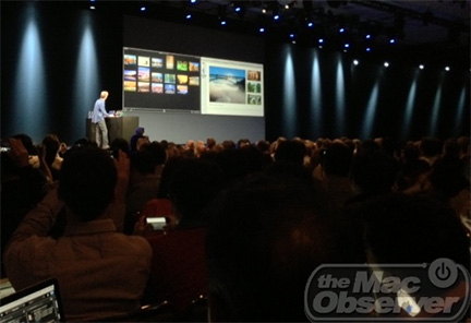 Craig Federighi demos OS X Mavericks at WWDC 2013