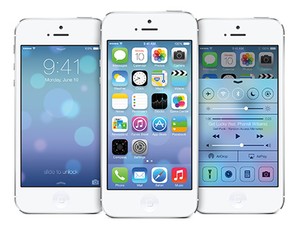 iOS 7 on Apple's iPhone 5