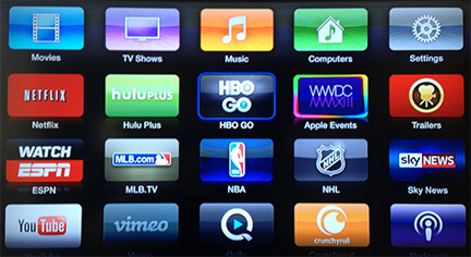 APple TV Adds HBO GO, WatchESPN & more