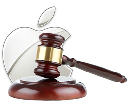 Apple Logo and Gavel