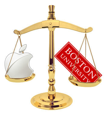 Apple agrees to BU patent licensing fees