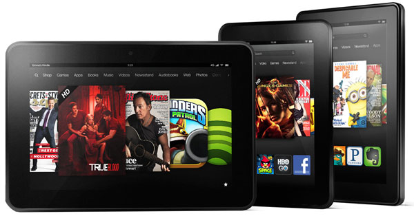 Amazon's 2012 Kindle Fire Family
